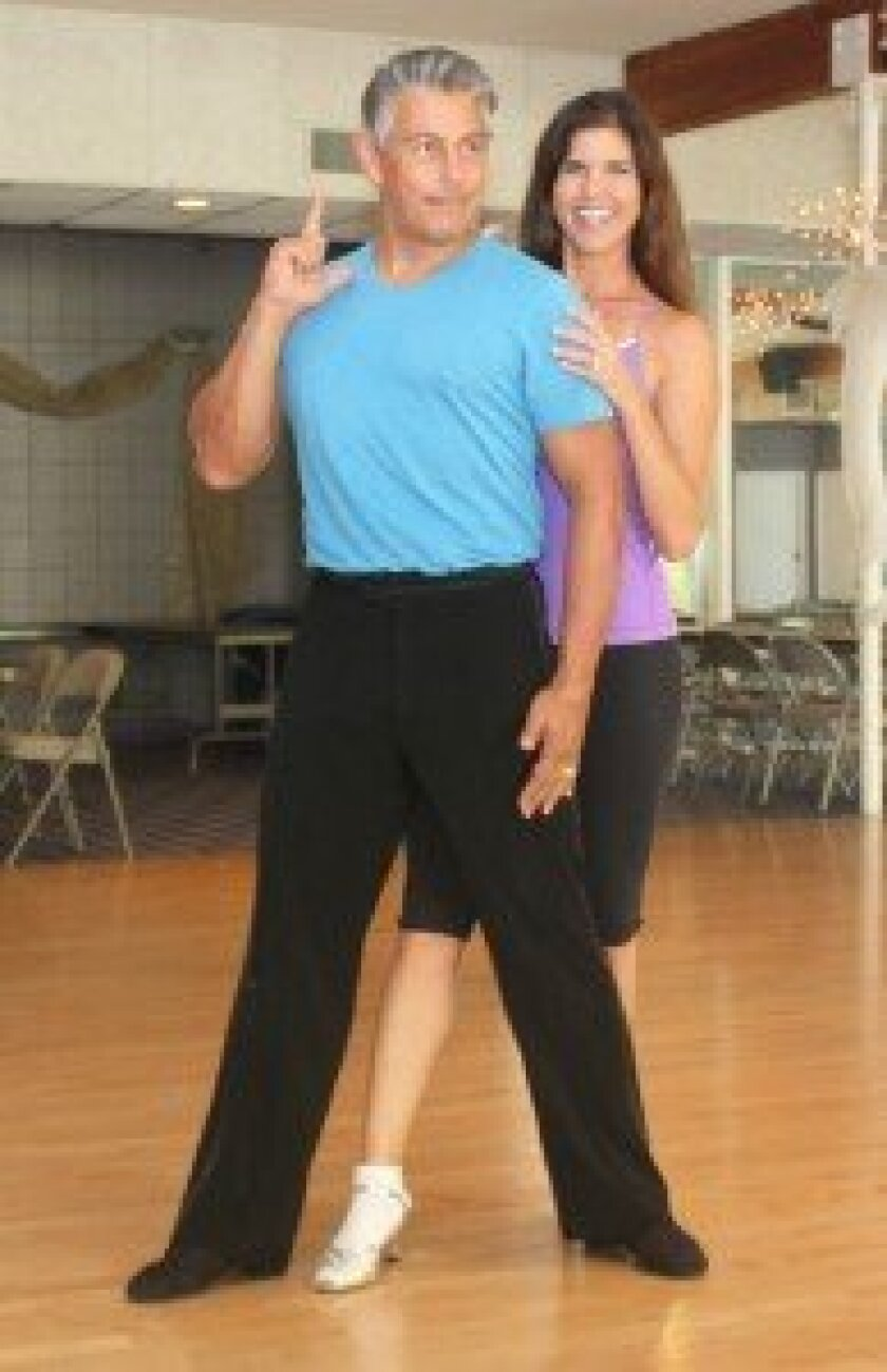 La Jolla Dancing with the Stars contestant Lisa D'Angelo and her dance partner, Tony Prado.