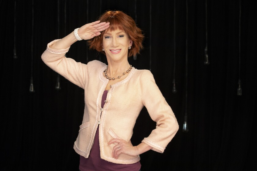 LOS ANGELES, CA - JUNE 05, 2018 - Comedian Kathy Griffin photographed at Live Nation studio, June 05