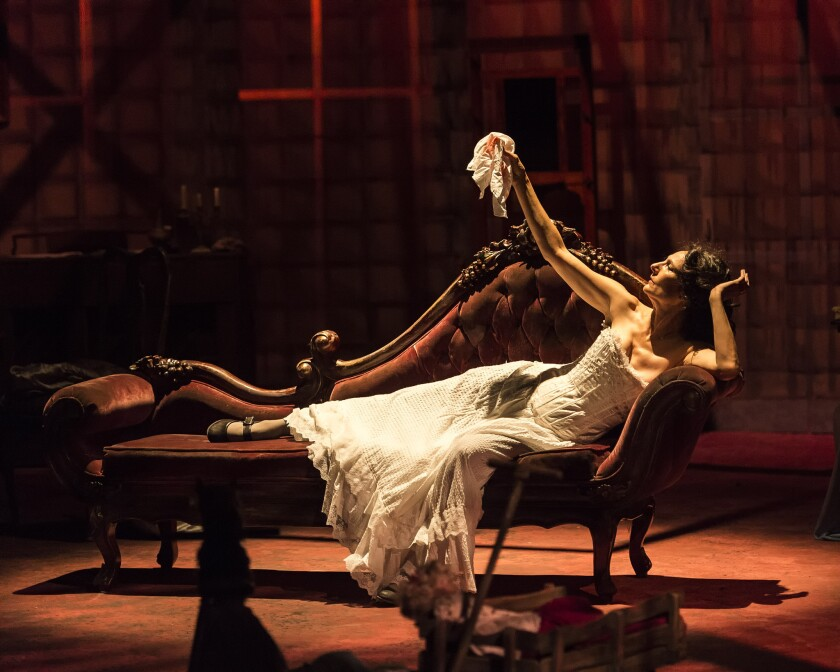 """Susan Angelo as Alice in """"The Dance Of Death"""" by August Strindberg."""