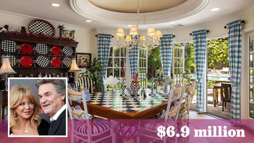 Actors Kurt Russell and Goldie Hawn have sold their home in Pacific Palisades for $6.9 million.