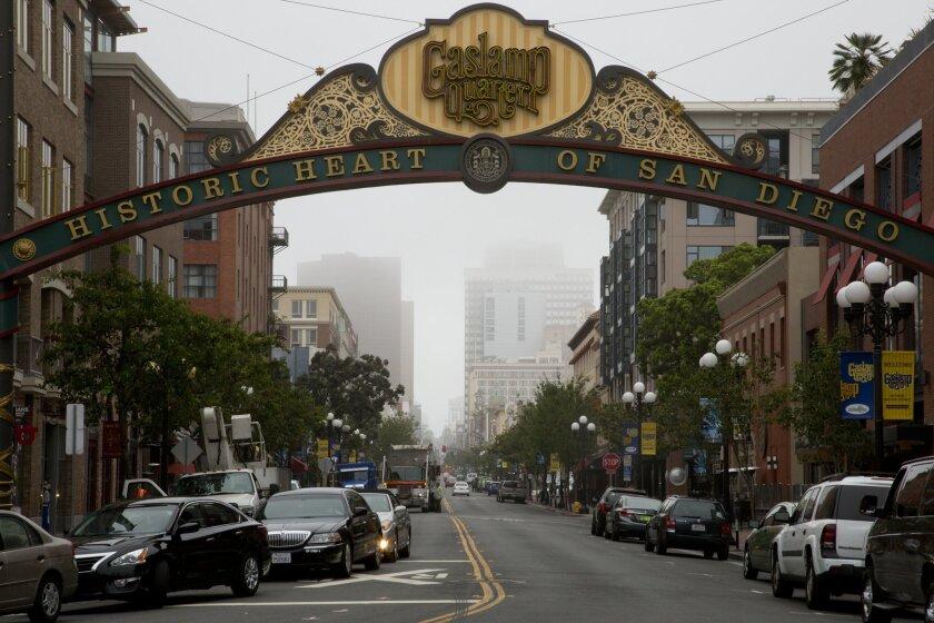 Downtown San Diego's Gaslamp Quarter.