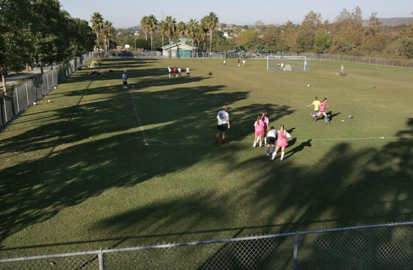 The Encinitas Soccer League has been pressing for improvements at Leo Mullen Sports Park since last spring, including permanent lights.