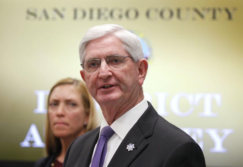 San Diego County Sheriff Bill Gore spoke in 2019.