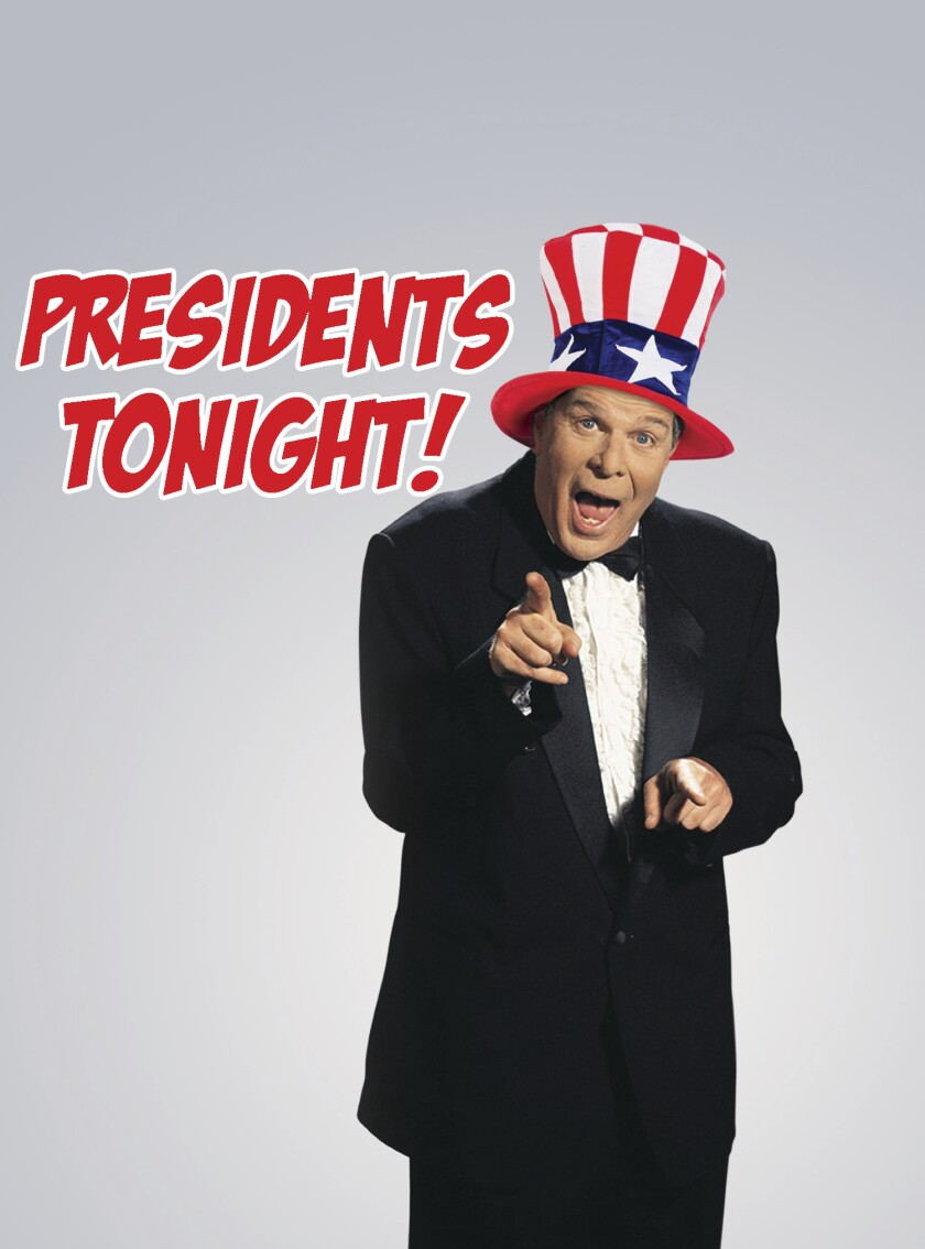 "Richard Lederer will present ""Presidents Tonight"" Monday, March 9 at 7:30 p.m. at the North Coast Repertory Theatre in Solana Beach."