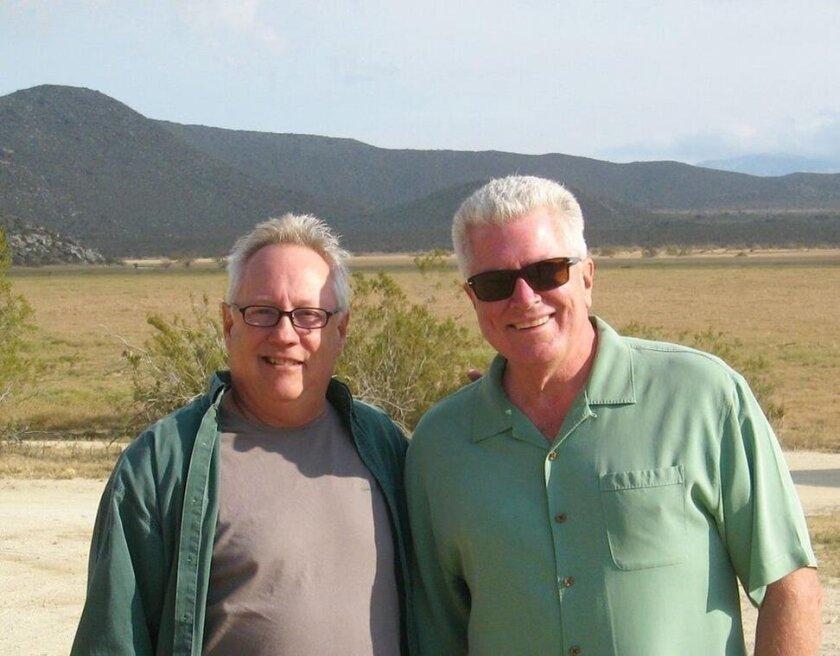 Filmmaker John McDonald and Huell Howser.