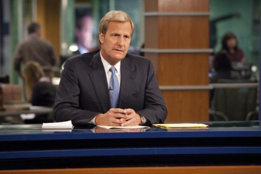"""Jeff Daniels of """"The Newsroom"""" says real TV anchors """"realized we weren't there to make anyone look bad, that we're there to show who they are."""""""