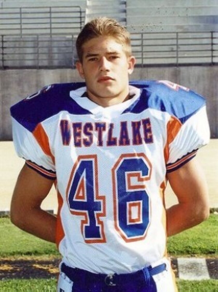 Francis L. Toner IV's prowess as a running back on Westlake High School's championship football team earned him a full scholarship to the U.S. Merchant Marine Academy. He joined the Navy right after college.