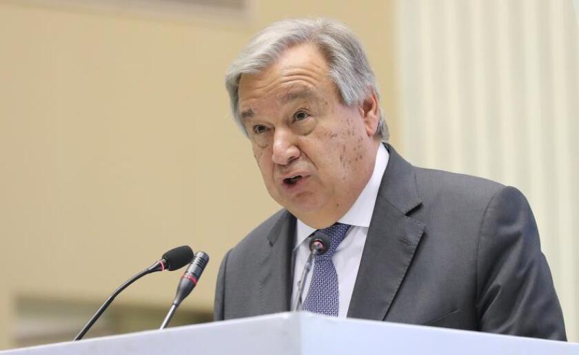 Fotografía de archivo del secretario general de la ONU, António Guterres. EFE/ Harish Tyagi/Archivo