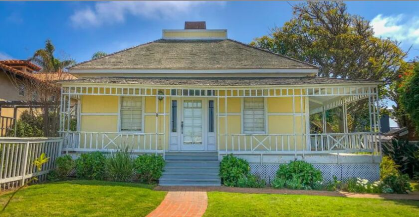 The Dunham House on 10th Street in Del Mar is more than 130 years old.