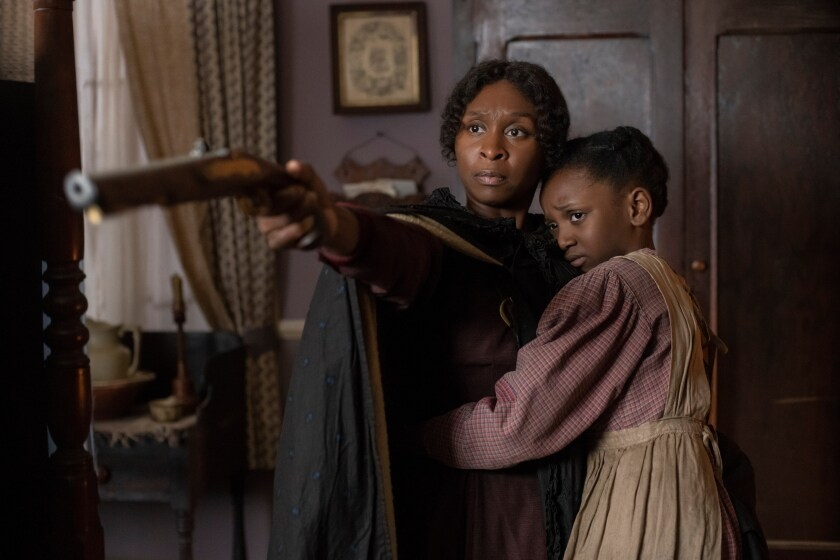 "Cynthia Erivo and Aria Brooks in ""Harriet."""