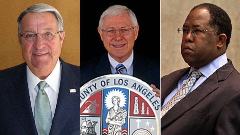 L.A. County supervisors campaign for funds in lightly contested races