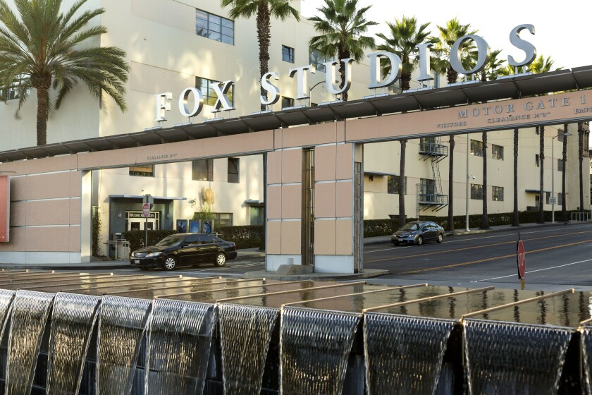 The main entrance to the 20th Century Fox Film lot.