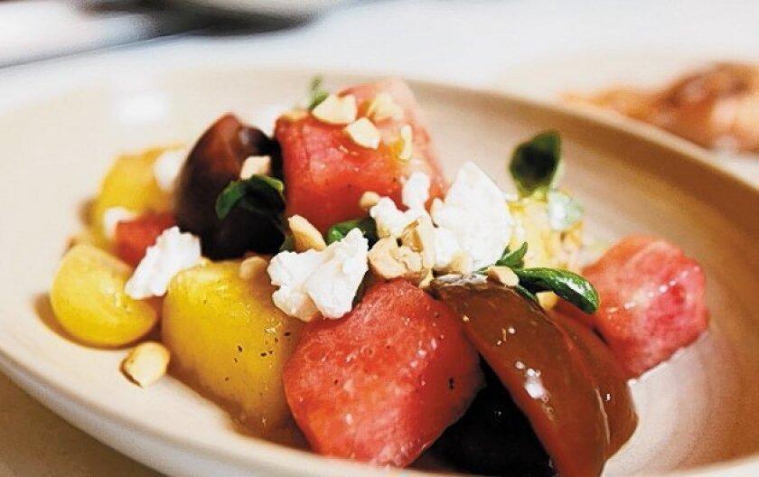 True Food Kitchen's Tomato and Watermelon Salad.