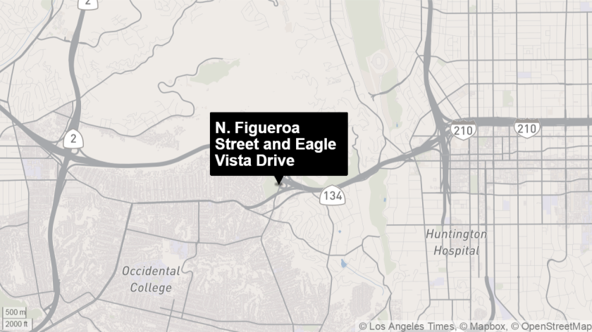 Police say a shooting occurred. near the corner of Figueroa Street and Eagle Vista Drive.