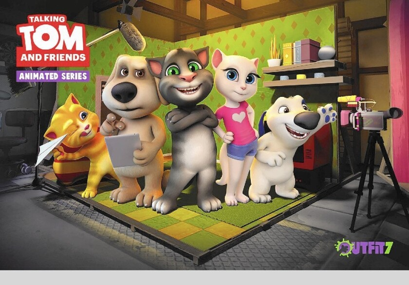 """""""Talking Tom and Friends"""" series will debut on the new YouTube Kids app."""