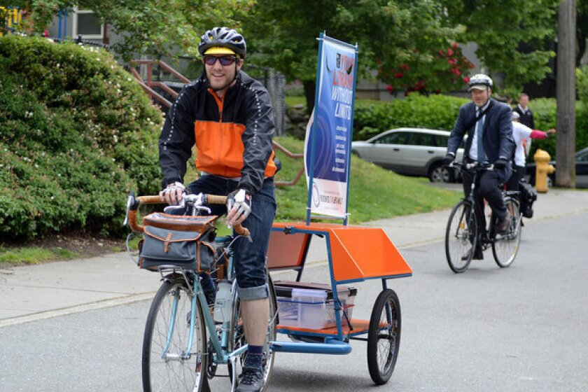 A public library on a bicycle? Seattle has one