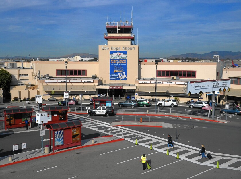 Burbank Airport was built in the 1930s and the terminal is too close to the runway.