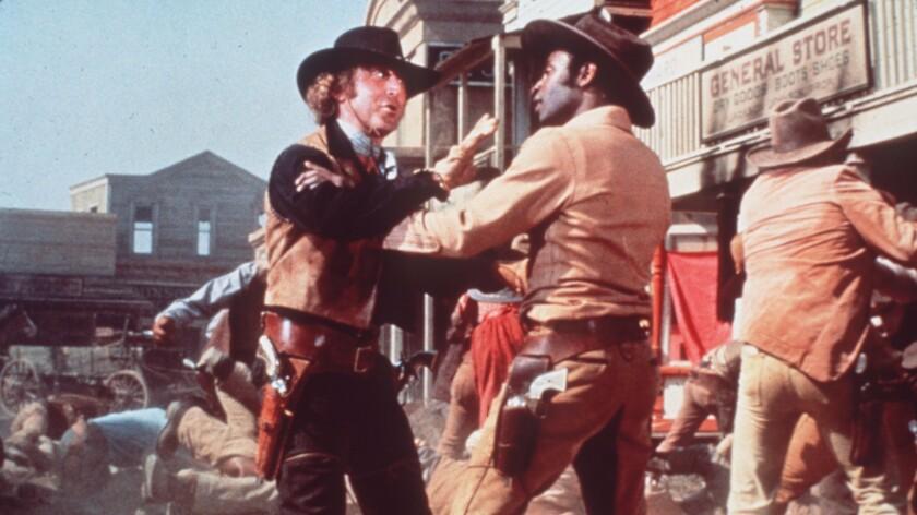 """Gene Wilder, left, and Cleavon Little in Brooks' """"Blazing Saddles."""""""