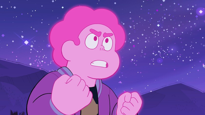 """Steven started glowing pink during """"Steven Universe Future"""" and he didn't know why."""
