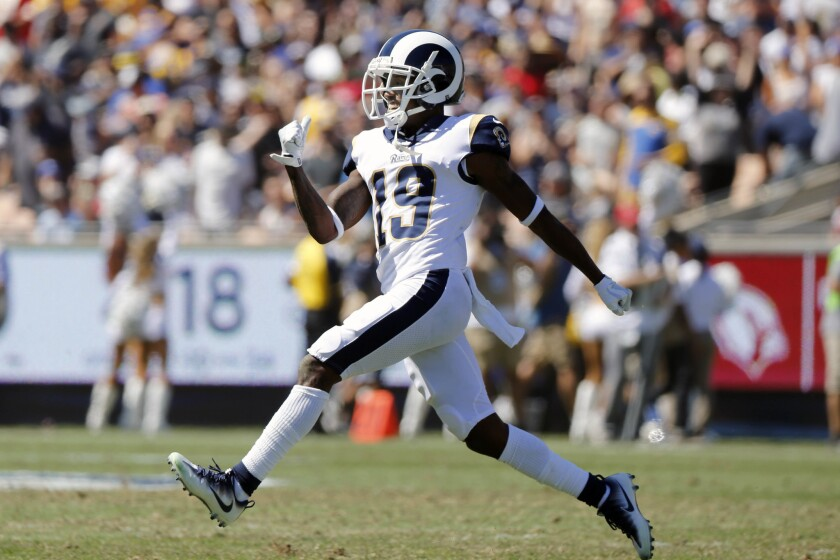 JoJo Natson won't be returning kicks for the Rams again this season because of a hamstring injury.
