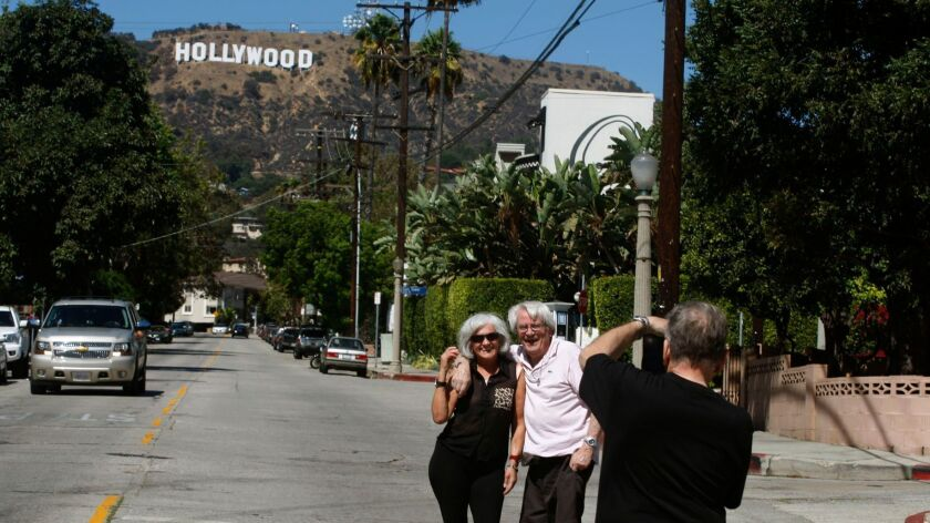 Raul and Amanda Bergamasco are photographed in Beachwood Canyon area of Hollywood Hills.