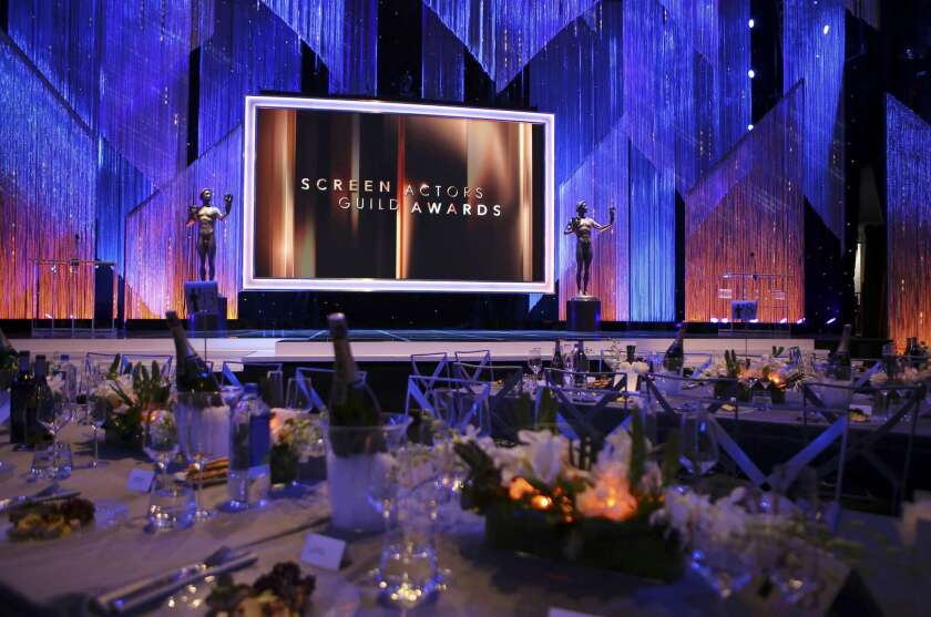 Interior of the Shrine Auditorium prior to the 23rd Screen Actors Guild Awards in Los Angeles, California, U.S., January 29, 2017. REUTERS/Mike Blake ** Usable by SD ONLY **