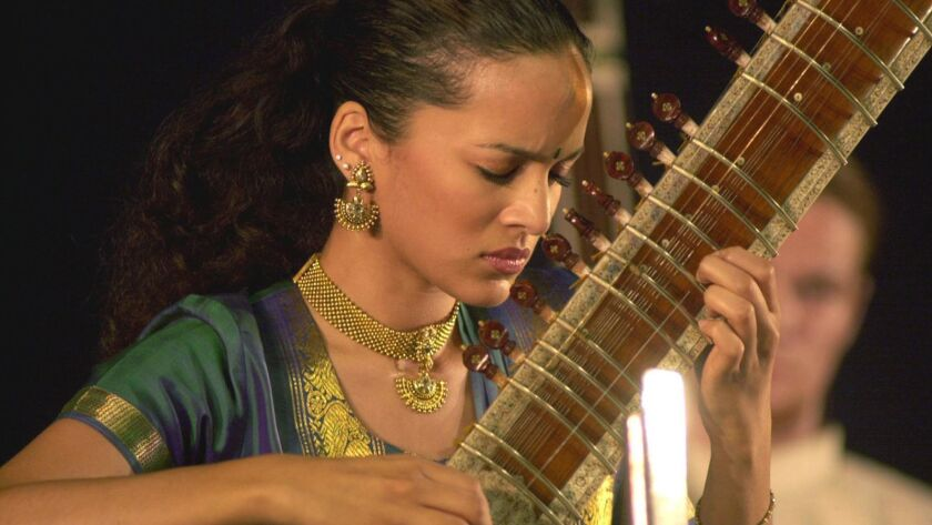 Sitar player Anoushka Shankar will perform one of her father Ravi Shankar's concertos with Pacific Symphony.