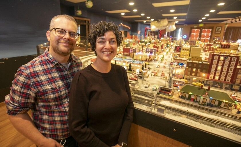 David Lizerbram and Mana Monzavi took over the Old Town Model Railroad Depot in Old Town, which was in danger of closing. After visiting the depot with their son, Miles, Lizerbram and Monzavi decided it was a community gem worth saving.
