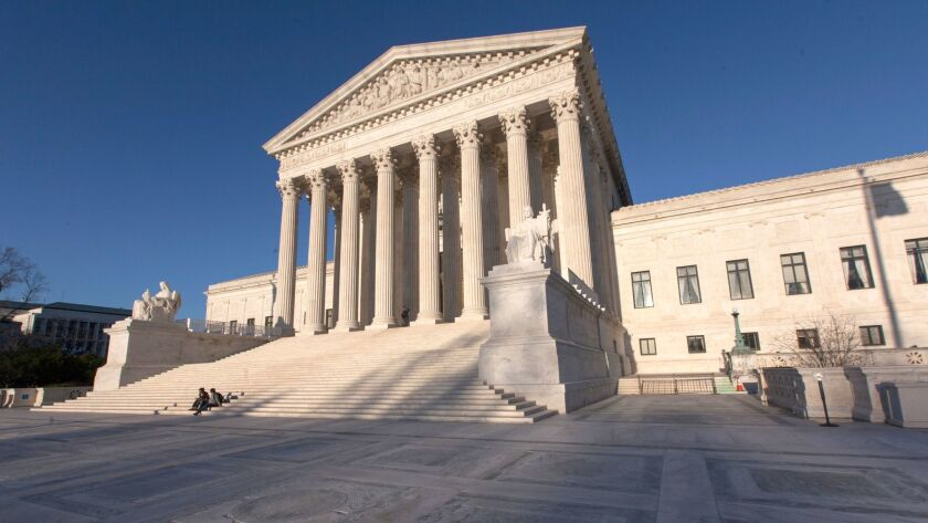 FILE - In this April 4, 2017, file photo, the Supreme Court Building is seen in Washington, D.C. The