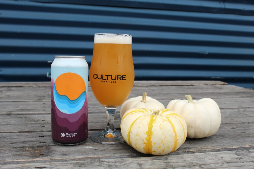 Culture's Cranberry Hazy IPA is a seasonal beer, brewed just for the holidays.