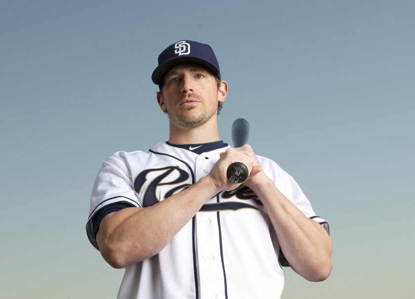 Travis Buck with the 2013 San Diego Padres.