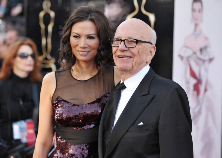 Rupert Murdoch and Wendi Deng Murdoch in February 2013