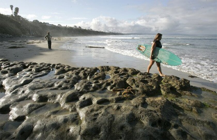 Before Swami's Beach gained its current name, the Encinitas hot spot was known for decades as Noonan's Point, in honor of James Noonan, who bought the property in 1887. (Charlie Neuman / Union-Tribune)