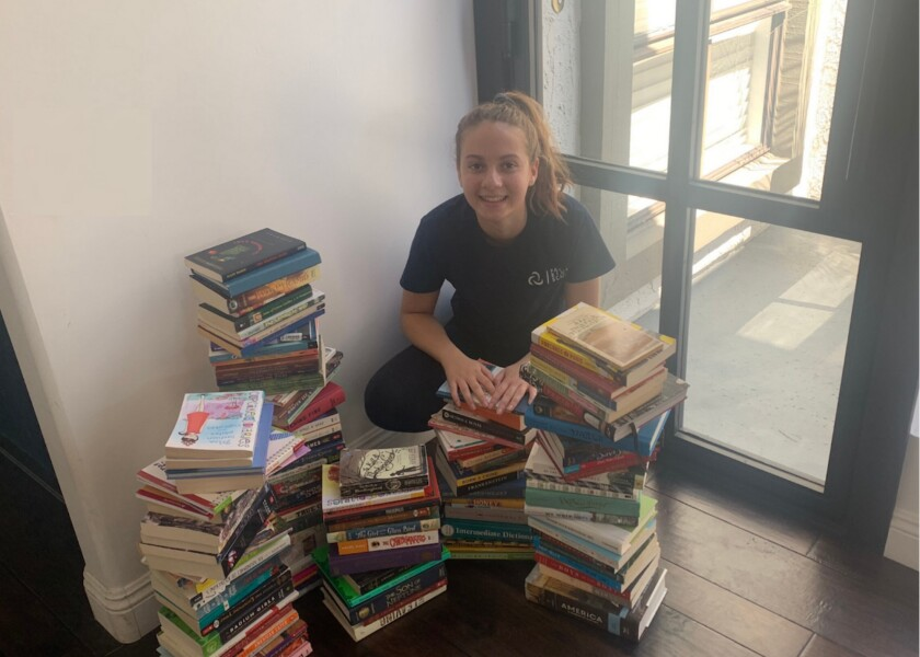 Alexis Shenkiryk started the Pages & Pieces book and puzzle drive.