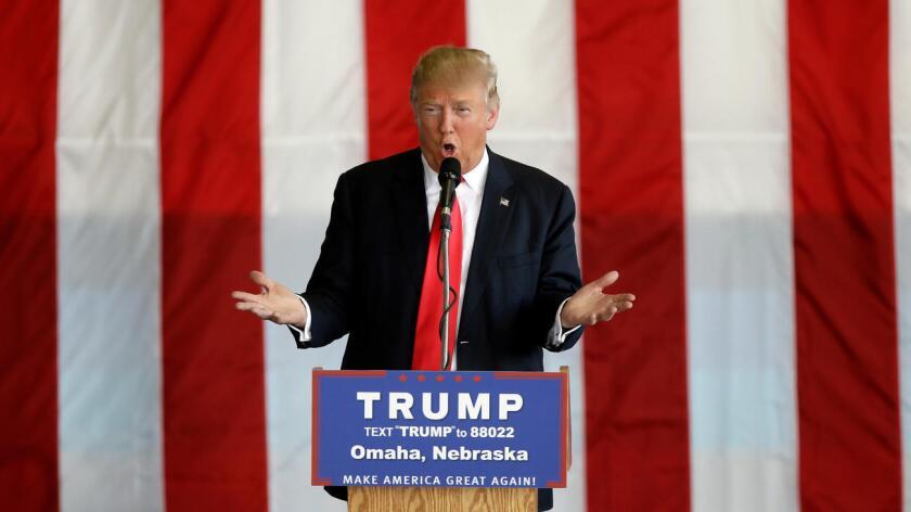 Foto de archivo de Donald Trump, precandidato republicano a la presidencia de Estados Unidos.