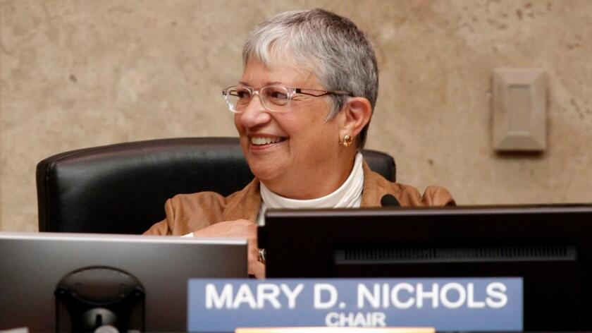 Mary Nichols of CARB