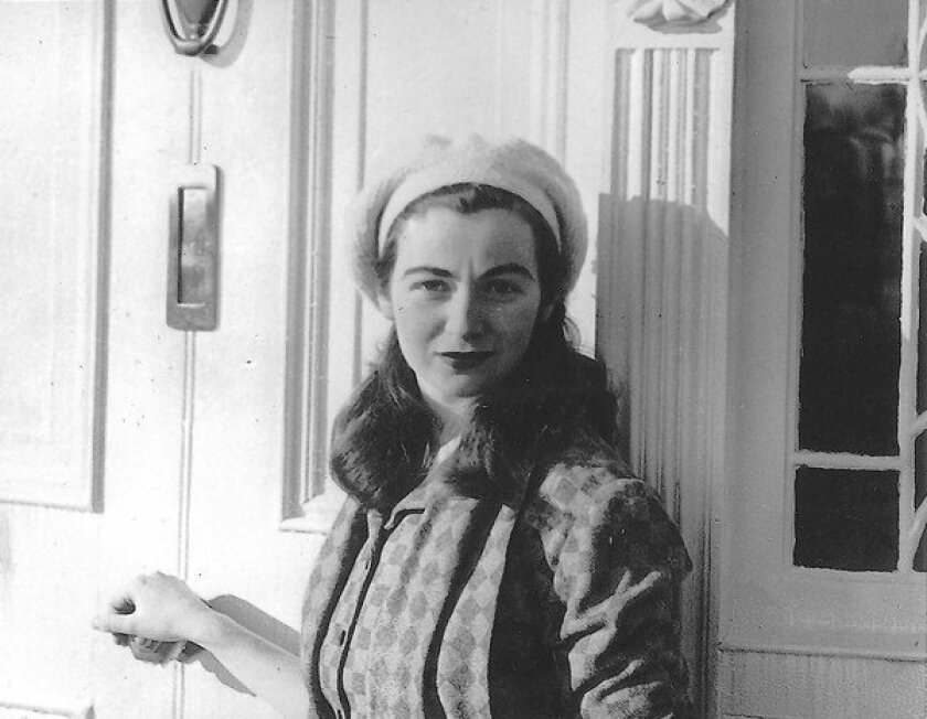 "Edna O'Brien from the book ""Country Girl,"" in Lake Park, County Wicklow, 1952."