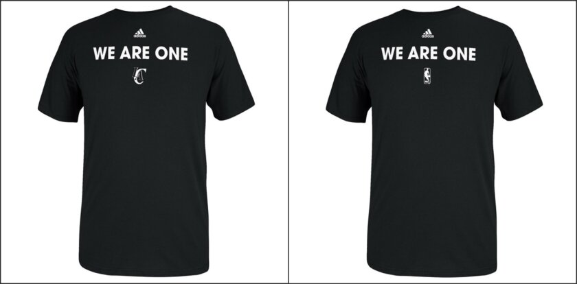 NBA debuts 'We Are One' T-shirts