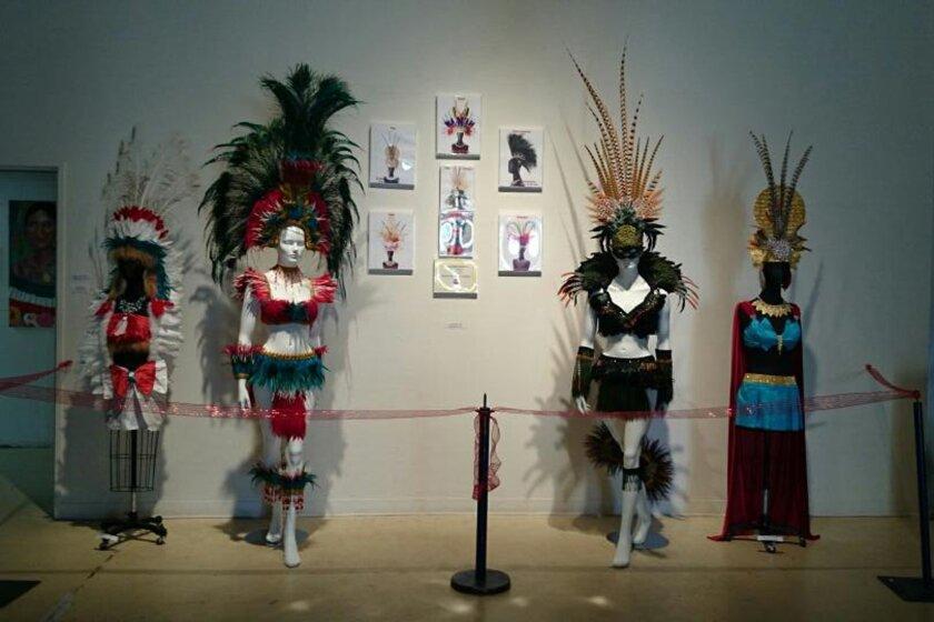 Silvio Nicholas Walters' installation at the Centro Cultural de la Raza, before Centro leaders removed it from the exhibition