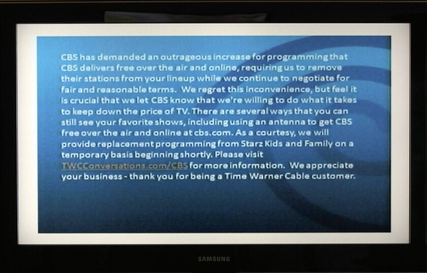 CBS/Time Warner Cable