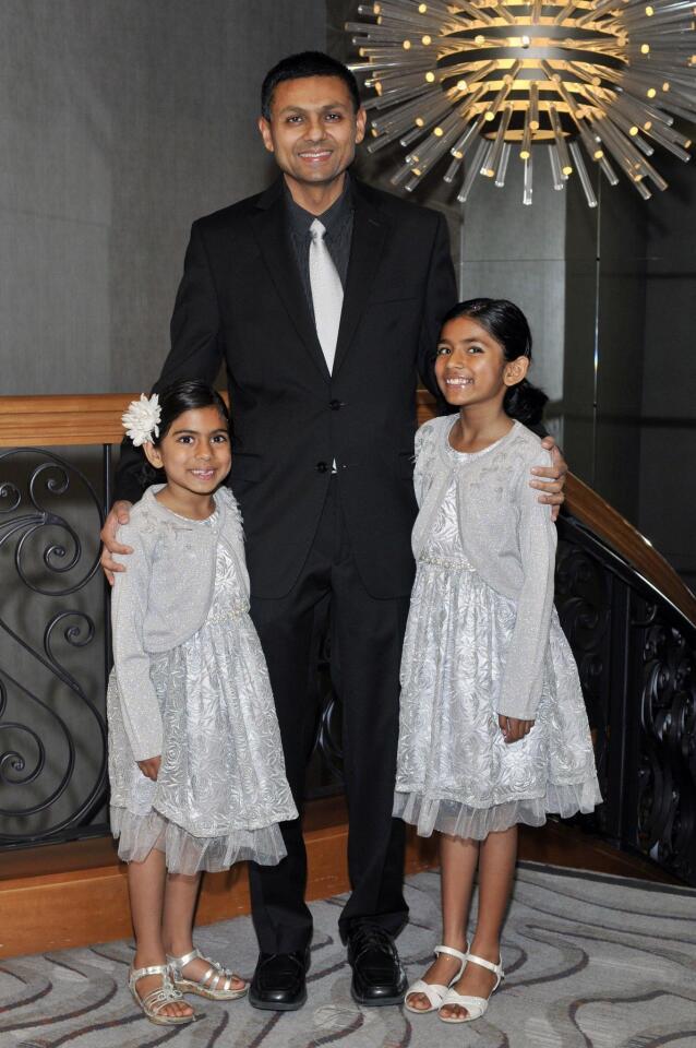 Gagan Singh with Nina and Zara