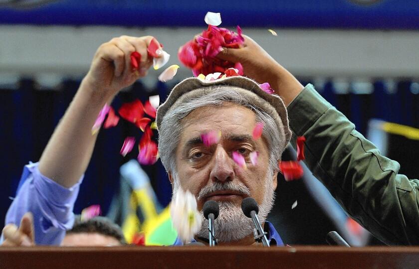 Afghan candidate Abdullah Abdullah