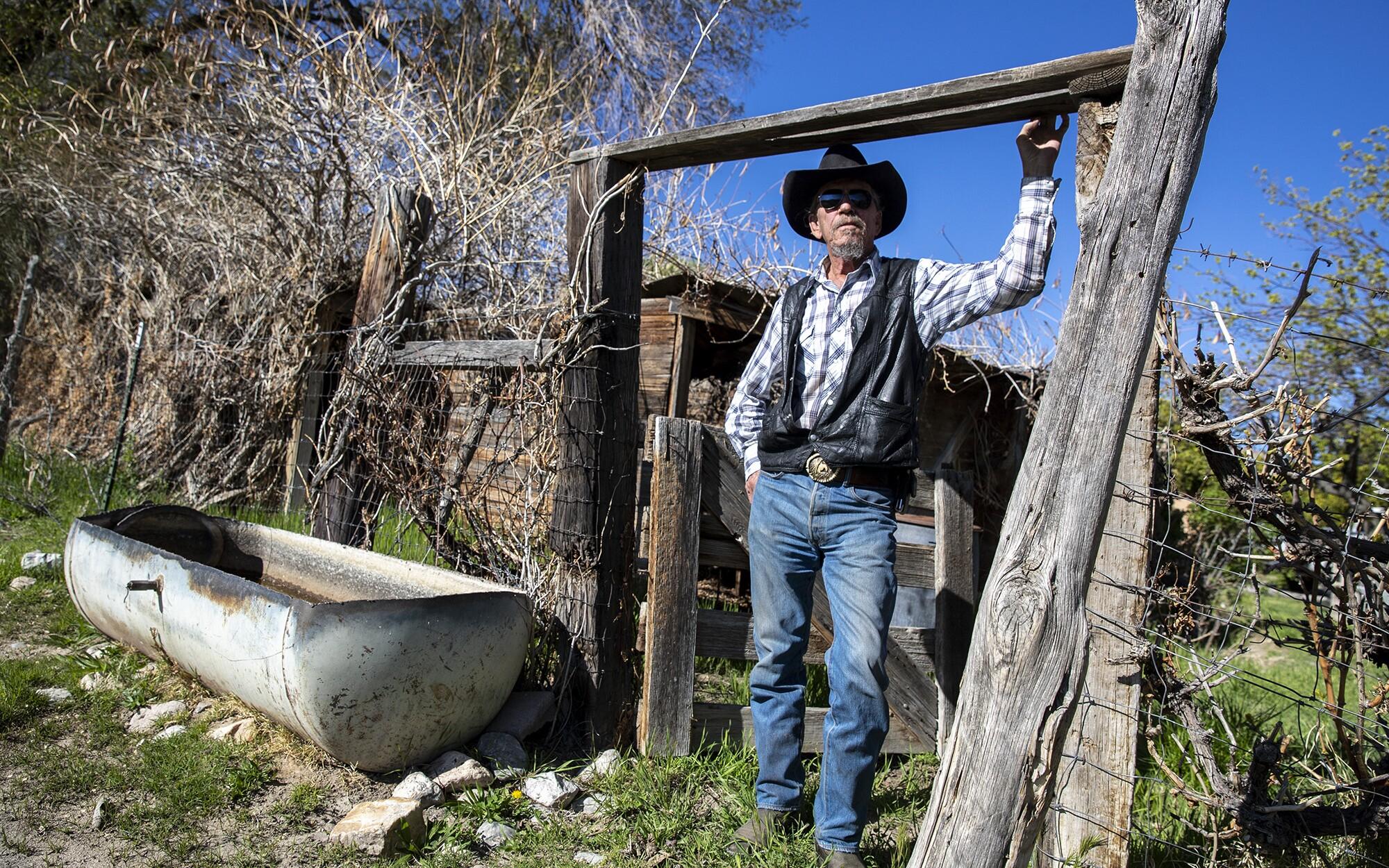 Glenndon Bundy on his rural ranch in Alamo, Nevada