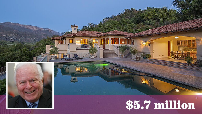 Former Mayor of L.A. Richard Riordan has bought a roughly 60-acre retreat in Ojai for $5.7 million.
