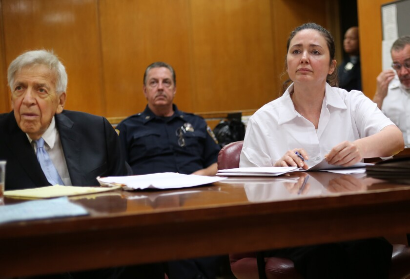Leonard Levenson (left), the lawyer for Marianne Benjamin-Williams (right) conceded that he was not fit to go forward as the main trial representative for the attempted murder suspect, whose case opened in front of a jury last week in Manhattan Supreme Court.