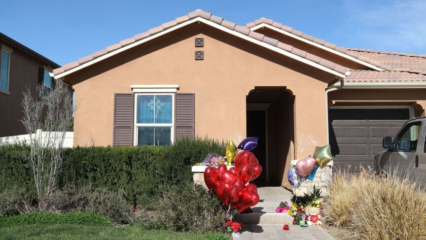 This suburban Perris, Calif., house, prosecutors say, was the site of the abuse and starvation of several children.