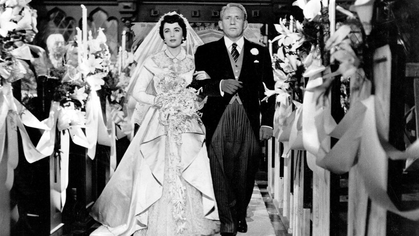 """Elizabeth Taylor and Spencer Tracy in """"Father of the Bride"""""""