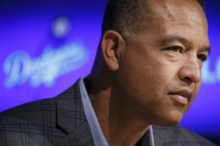 The Dodgers' Dave Roberts, shown Jan. 11, was the 2016 National League Manager of the Year.