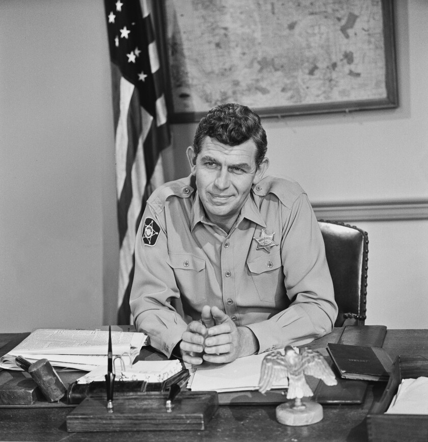 """""""The Andy Griffith Show"""" was in the Nielsen Top 10 for its entire eight-season run, ending in 1968."""