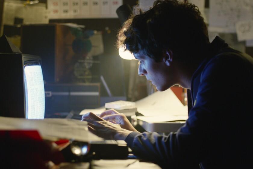 "Fionn Whitehead as troubled game programmer Stefan Butler in Netflix's interactive ""Black Mirror: Bandersnatch"" episode."